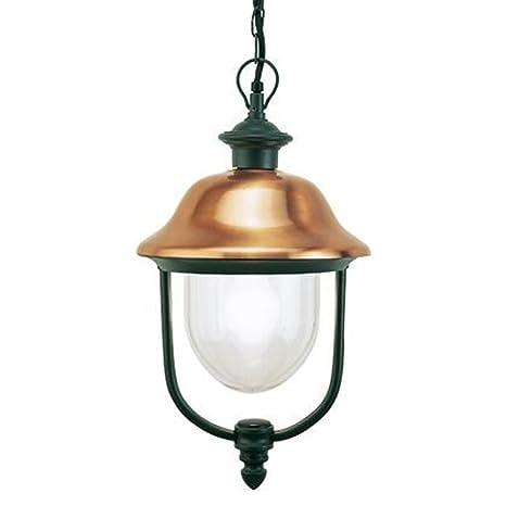 Lampada a sospensione classica illuminazione da esterno grigio,rame