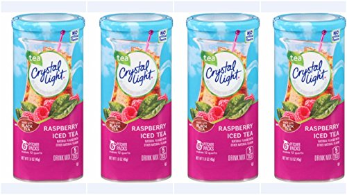 Crystal Light Raspberry Iced Tea, 12-Quart 1.6-Ounce Canister (Pack Of (Raspberry Iced Tea)