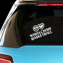PEACE LOVE WHEELCHAIR BASKETBALL Sport Car Laptop Wall Sticker