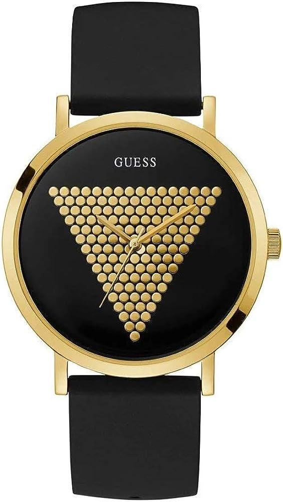 Guess Reloj Analógico para Hombre de Cuarzo con Correa en Silicona W1161G1