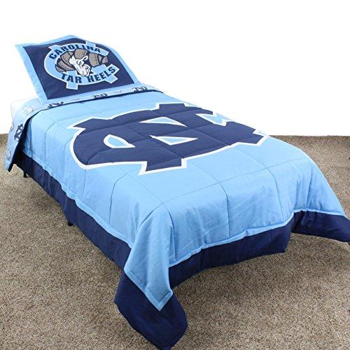 College Covers International North Carolina Tar Heels Reversible Comforter Set - Queen (Unc Comforter Set)