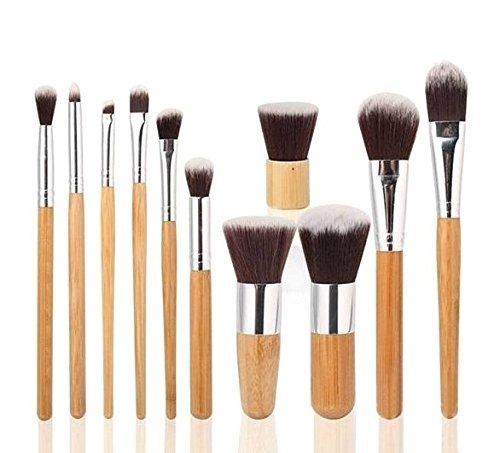 Foolzy 11Pcs Makeup Brush Set Professional Kabuki Foundation