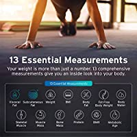 Etekcity Digital Body Weight Scale Smart Bluetooth Body Fat Bmi Scale Bathroom Weighing Scale Tracks 13 Key Fitness Compositions 400 Lbs 11 8 11 8 Inches Amazon Sg Health Personal Care