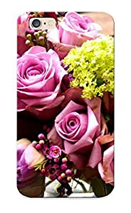Iphone 6 DcbdrXR890KeQSc Purple And Green Bouquet Tpu Silicone Gel Case Cover For Lovers