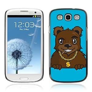 Designer Depo Hard Protection Case for Samsung Galaxy S3 / Gangsta Pimp Bear