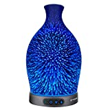 Sztrokia Essential Oil Diffuser, 3D Glass Aromatherapy Diffuser, 300ML...