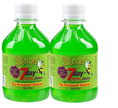 2 Stinger 7 Day Permanent Detox 2-1 Week bottles 8oz each w/ 2 Free 6 Panel Drug Tests(mAMP/THC/OXY/COC/OPI/BZO) by Guardian Labs