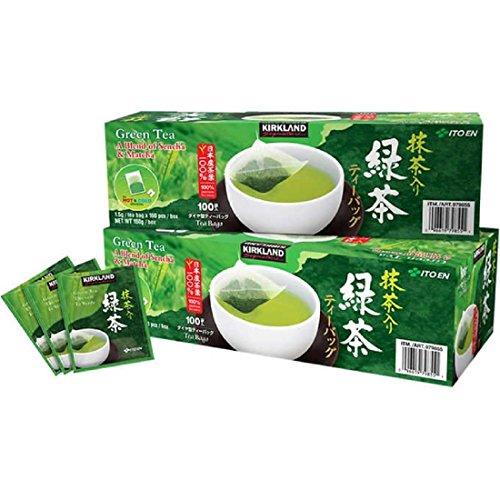Kirkland Ito En Matcha Blend Japanese Green Tea, 1.5g Tea Bags (200 Count) - Ct Bag 200
