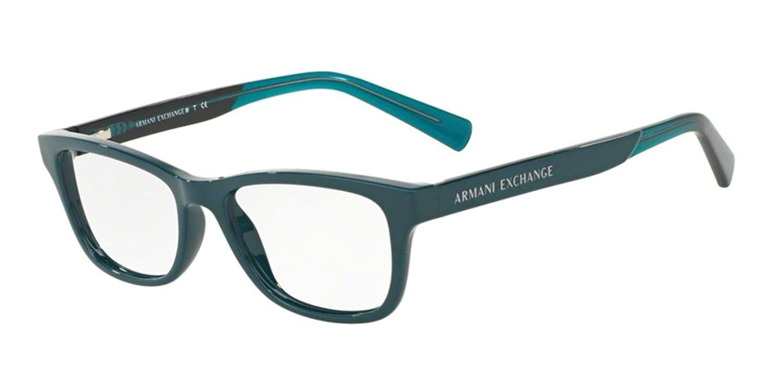 Amazon.com: Armani Exchange AX3030 Eyeglass Frames 8186-52 - Black ...