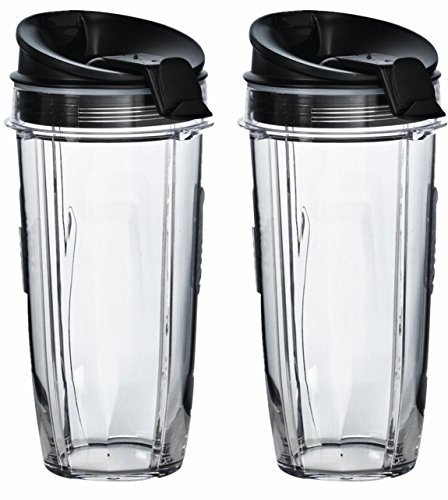 Nutri Ninja 32 oz Tritan Cups with Sip & Seal Lids. Compatible with BL480, BL490, BL640, & BL680 Auto IQ Series Blenders (Pack of 2)