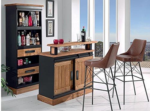 Étagère en Métal et pin Massif brossé Rexton Meuble House  Amazon.fr   Cuisine   Maison c897de7f3602