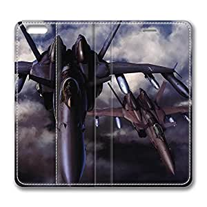 iPhone 6 Plus Case, Fashion Protective PU Leather Flip Case [Stand Feature] Cover Aircrafts Iii for New Apple iPhone 6(5.5 inch) Plus