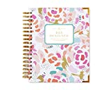"Day Designer Midyear 2017-2018 Original Flagship Edition Daily Planner, 9"" x 9.75"", Painterly Floral"