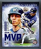 """Christian Yelich Milwaukee Brewers 2018 MVP MLB Composite Photo (Size: 12"""" x 15"""") Framed"""