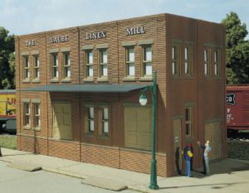 Dpm Ho Scale Building - HO KIT DPM Laube's Linen Mill by Woodland Scenics