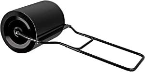 ROVSUN Lawn Roller with Handle Steel Drum, 16 Gallon Garden Yard Kit, Water Filled Push/Pull Sod Roller 16''x19.5''