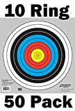 Archery 40cm & 80cm Targets by Longbow (50 pack, 40cm/approx 17'' (10 Ring))