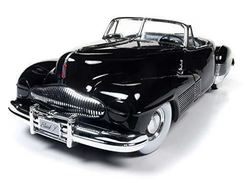 Price comparison product image New 1:18 AUTO WORLD AMERICAN MUSCLE COLLECTION - 1938 Buick Y-Job Black Diecast Model Car By Auto World