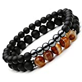 Mens Prayer Bracelet (Amber Tiger Eye)