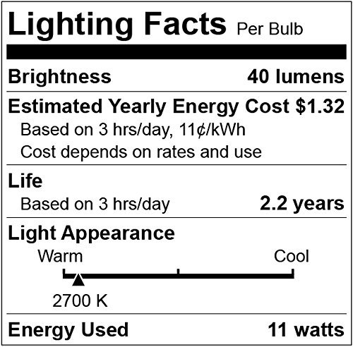 11 Watt Outdoor Light bulbs, Rolay S14 Warm Replacement Bulbs for Outdoor Patio String Lights with E26 Base, Pack of 25 by Rolay (Image #2)