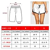 ftuyuy erett Summer Beachwear Quick Dry Hibiscus Blue Flowers and Tropical Leaves Beach Board Shorts for Women Loose Shorts
