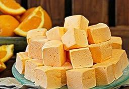 Homemade Orange Creamsicle Marshmallows (12 Jumbo) GLUTEN FREE Naturally Sweetened w Honey, Party Favors, Gourmet Gifts