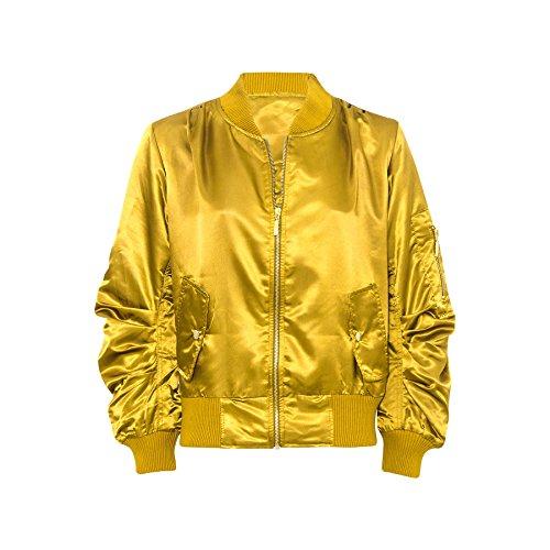 7 Fashion Road Damen Steppjacke Jacke Schwarz Schwarz One size Gold
