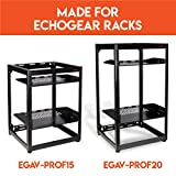 "ECHOGEAR Universal 1U Vented Rack Shelf - 19"" Shelf Holds Up to 30lbs of Gear - Compatible with Most Racks - Vented for Maximum Airflow"