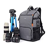YAAGLE Oxford Multi-Functional Anti-Shock DSLR Camera Bag Backpack Professional Gear Photography Travel Backpack Rucksack 15-inch Laptop Pack
