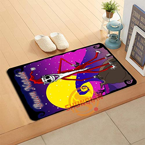 CHITOP Nightmare Before Christmas | Custom The Nightmare Before Christmas Doormat Bath mats Foot pad Home Decor Bathroom mats Door mat Floor mat a320#50 -