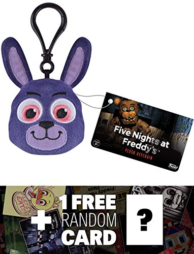 Bonnie: Funko x Five Nights at Freddy's Mini-Head Plushy Keychain + 1 FREE Video Games Themed Trading Card Bundle (091491) -  BCC9480457