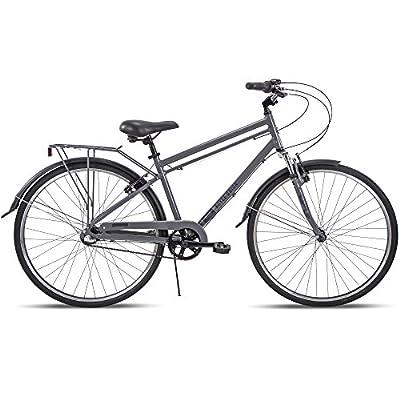 Royce Union 700c RMX Mens 3-Speed Commuter Bike, Aluminum Frame, Cool Gray