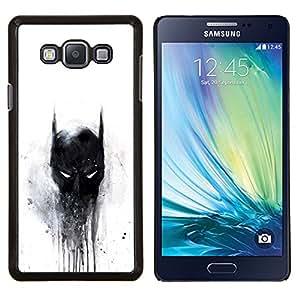 Oscuro Murciélago Superhéroe- Metal de aluminio y de plástico duro Caja del teléfono - Negro - Samsung Galaxy A7 / SM-A700