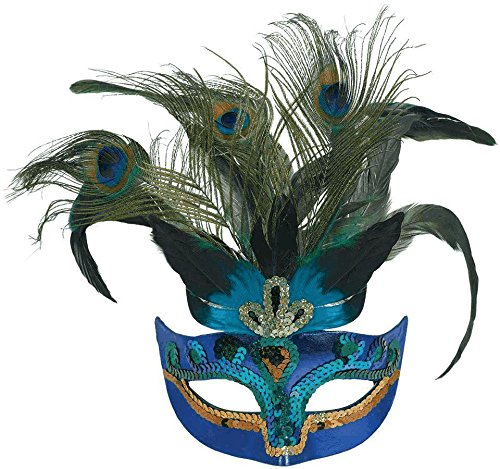 Amscan Womens Peacock Feather Mask (365712) Halloween Costume (Simple Cheap Halloween Costumes For Adults)