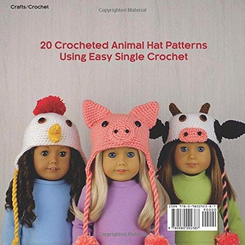 Amigurumi Animal Hats For 18 Inch Dolls 20 Crocheted Animal Hat