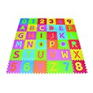 Letters & Numbers Puzzle Play Mat 36 Tiles EVA Foam Rainbow Floor by Poco Divo