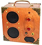 """Delta Driver"" 2-Speaker, 2-Input Cigar Box Amplifier - for Guitar or MP3/Phone"