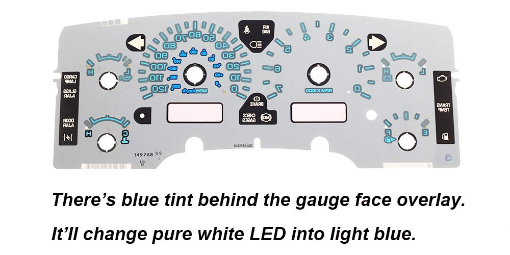 HERCOO Ice Blue LED Light Bulbs for Instrument Gauge Cluster Speedometer Compatible with 2002-2006 Dodge Ram 1500 2500 3500