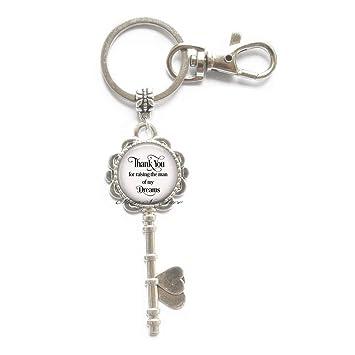 ZE176 - Llavero con llave de estilo moderno y delicado ...