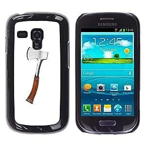 """For Samsung Galaxy S3 MINI ( NOT for regular S3 Case , Hacha de Plata Madera trabajo forestal Herramienta Cut"""" - Diseño Patrón Teléfono Caso Cubierta Case Bumper Duro Protección Case Cover Funda"""