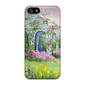 Durable Protector Case Cover With English Garden Gazebo Hot Design For Iphone 5/5s