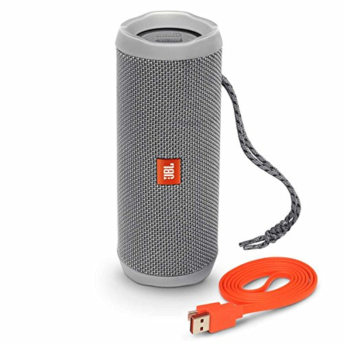 JBL Flip 4 Waterproof Portable Wireless Bluetooth Speaker Bundle - (Pair) Gray