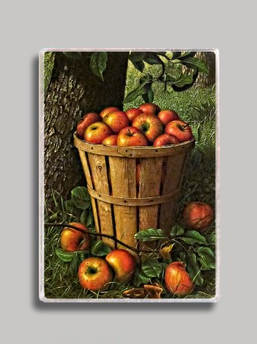 Country Apple Basket Refrigerator Magnet