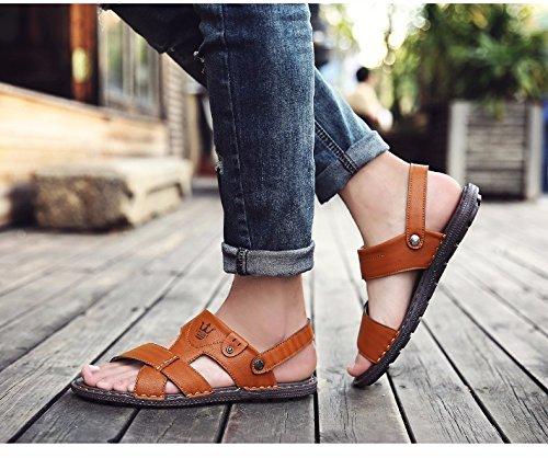 sandali Uomini Il nuovo estate Uomini scarpa Antiscivolo indossabile Doppio uso Spiaggia scarpa Uomini infradito sandali tendenza ,Marrone ,US=7.5,UK=7,EU=40 2/3,CN=41