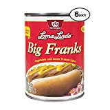 Loma Linda - Plant-Based - Big Franks (20 oz.) (Pack of 6) - Kosher