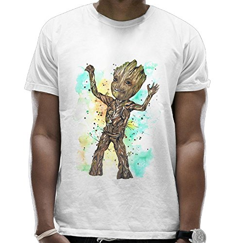 I Am Groot 4 T Shirts For Men Graphic Vintage Summer Pattern Top Cartoon White Small