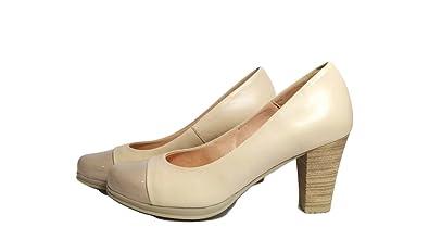 Amazon Desiree Con Beige Puntera De Salon Zapatos Charol 38 rqF84rP 2999c78f00d3