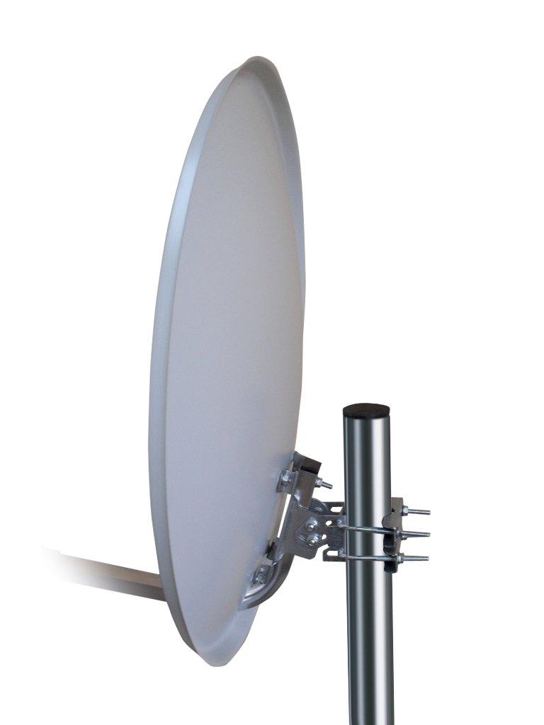 Twin-LNB, 60 cm Antenne grau//silber Opticum HD AX 300 Digitale 2 Teilnehmer Satelliten-Komplettanlage mit HDTV-Receiver