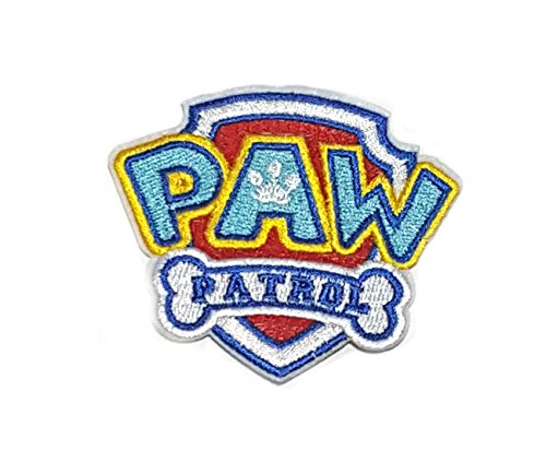 Application Cartoon Classic Paw Patrol Logo Cosplay Badge Embroidered Iron or Sewn-On Applique Patch