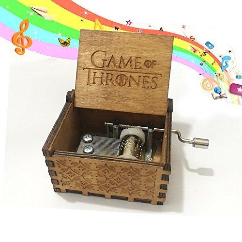 Rabi Caja de música de Madera manivela Caja de música